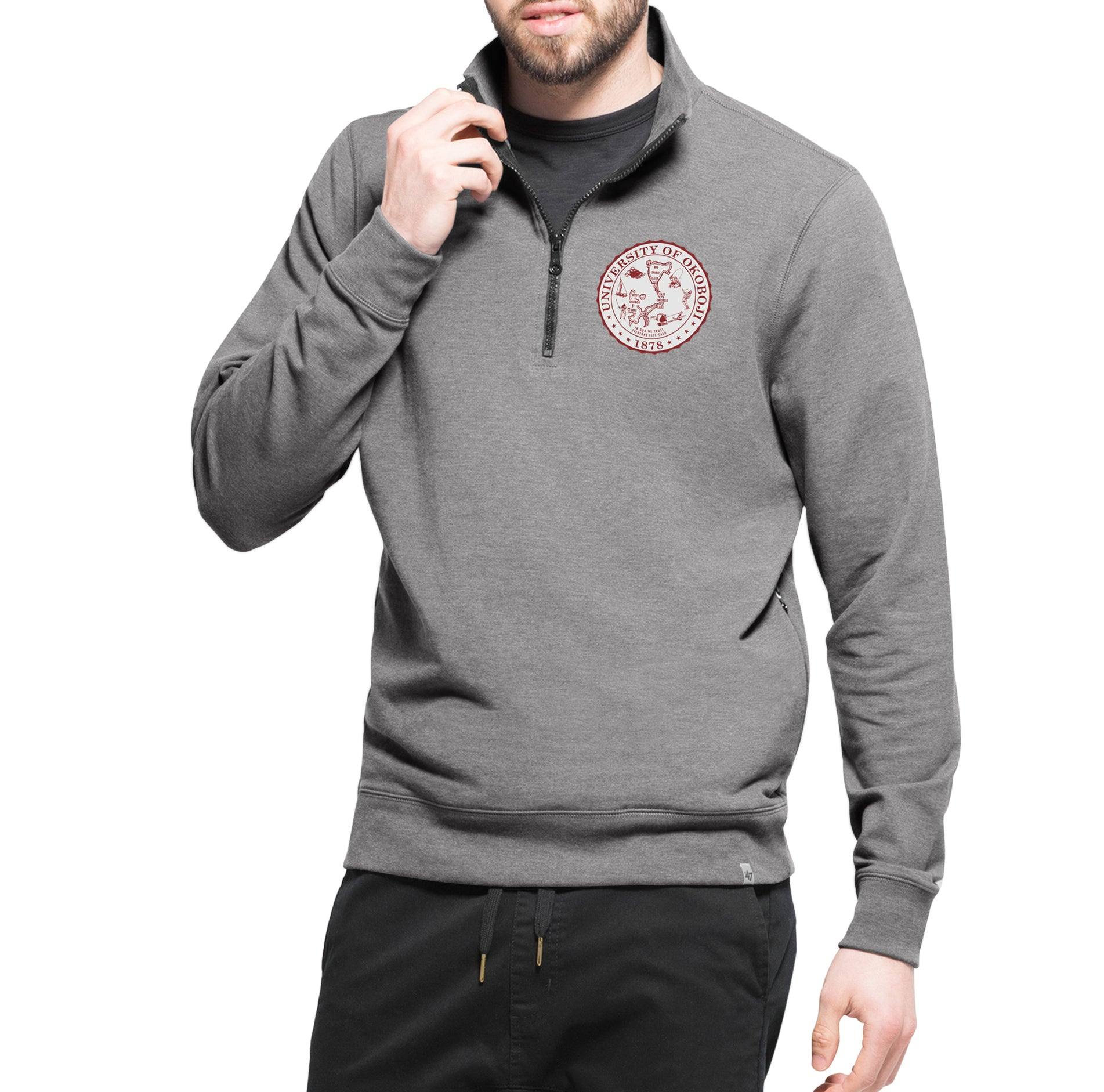'47 Forward Okoboji Stretch 1/4 Zip - Wolf Grey