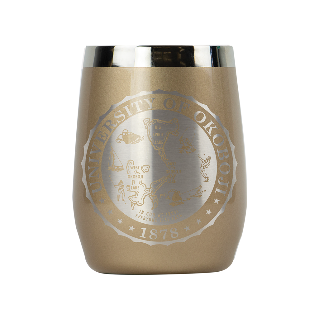 PORT INSULATED STAINLESS STEEL WINE TUMBLER AND WHISKEY TUMBLER - 10 OZ - GOLD DUST