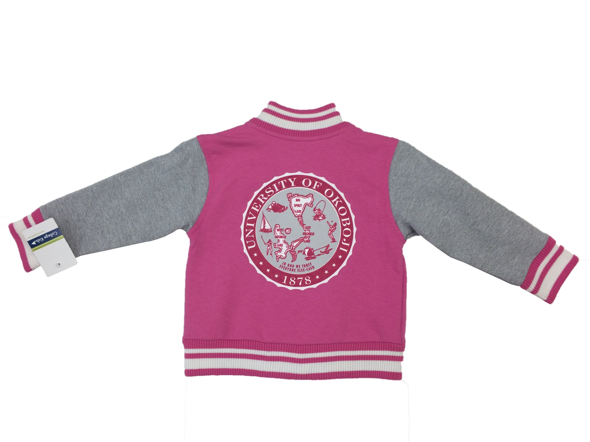 Toddler U of O Letterman Jacket - Pink