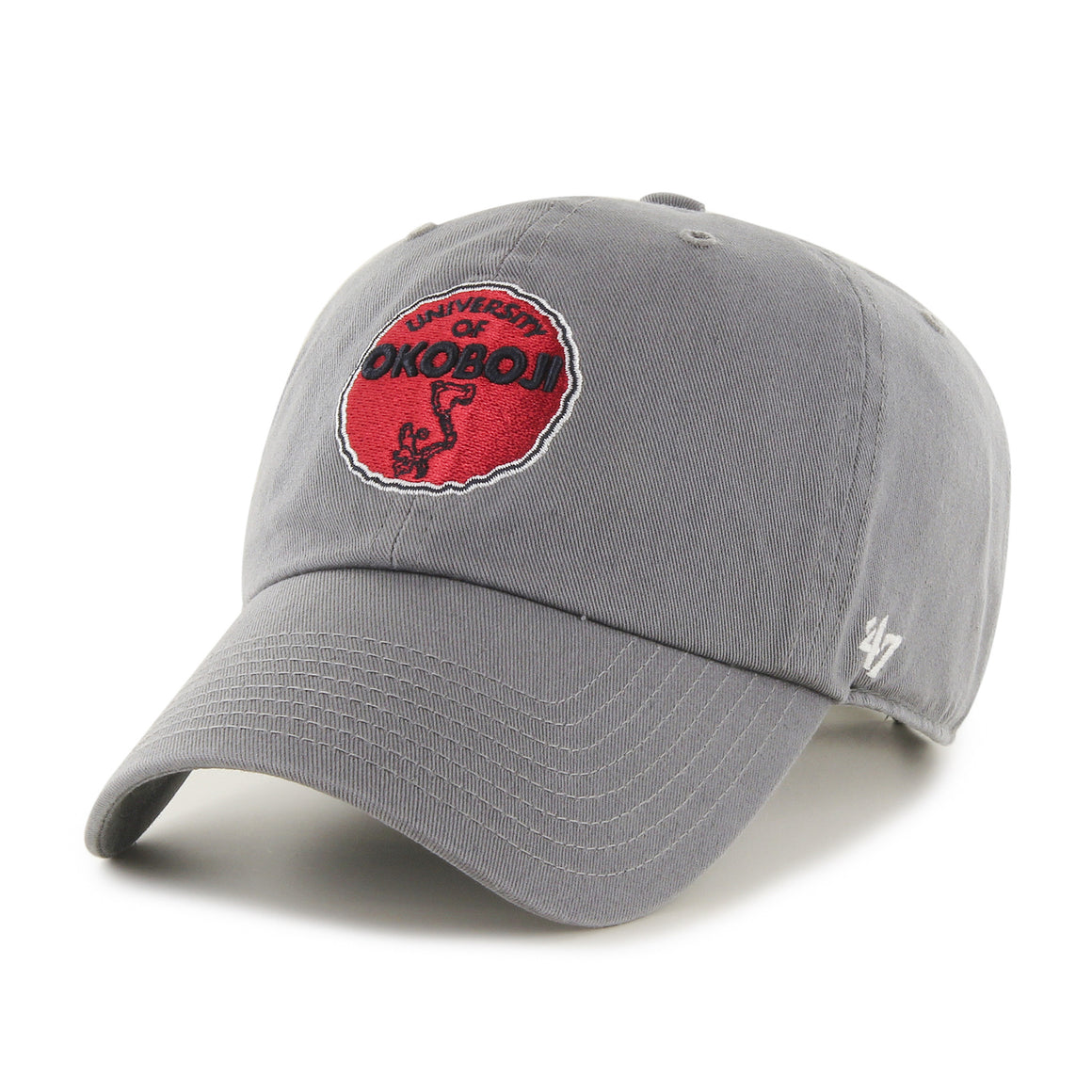 University of Okoboji '47 Dark Gray Clean Up Cap