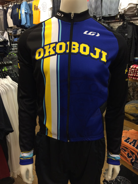 University of Okoboji Men's Dark Cycling Long Sleeve Jersey