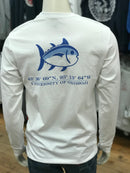 "U of O Southern Tide ""The Skipjack"" Long Sleeve Shirt in White"