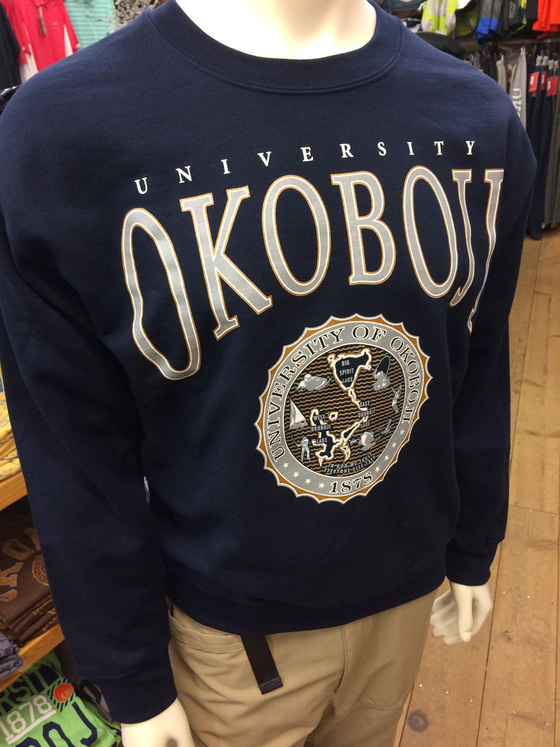 Classic University of Okoboji Navy Crewneck Sweatshirt
