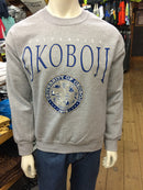 Classic University of Okoboji Ash Gray Crewneck Sweatshirt