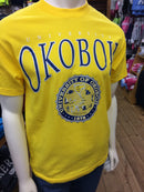 Classic University of Okoboji Yellow Tee