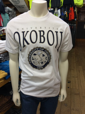 Classic University of Okoboji White Tee