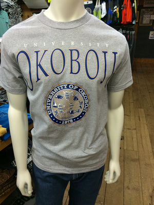 Classic University of Okoboji Ash Gray Tee