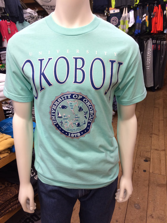 Classic University of Okoboji Mint Tee