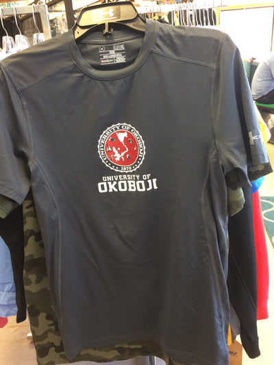 University of Okoboji Red Crest Under Armour (Fitted) Tee