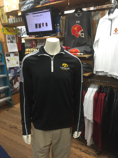 The Under Armour Golf 1/4 Zip - Black - Iowa