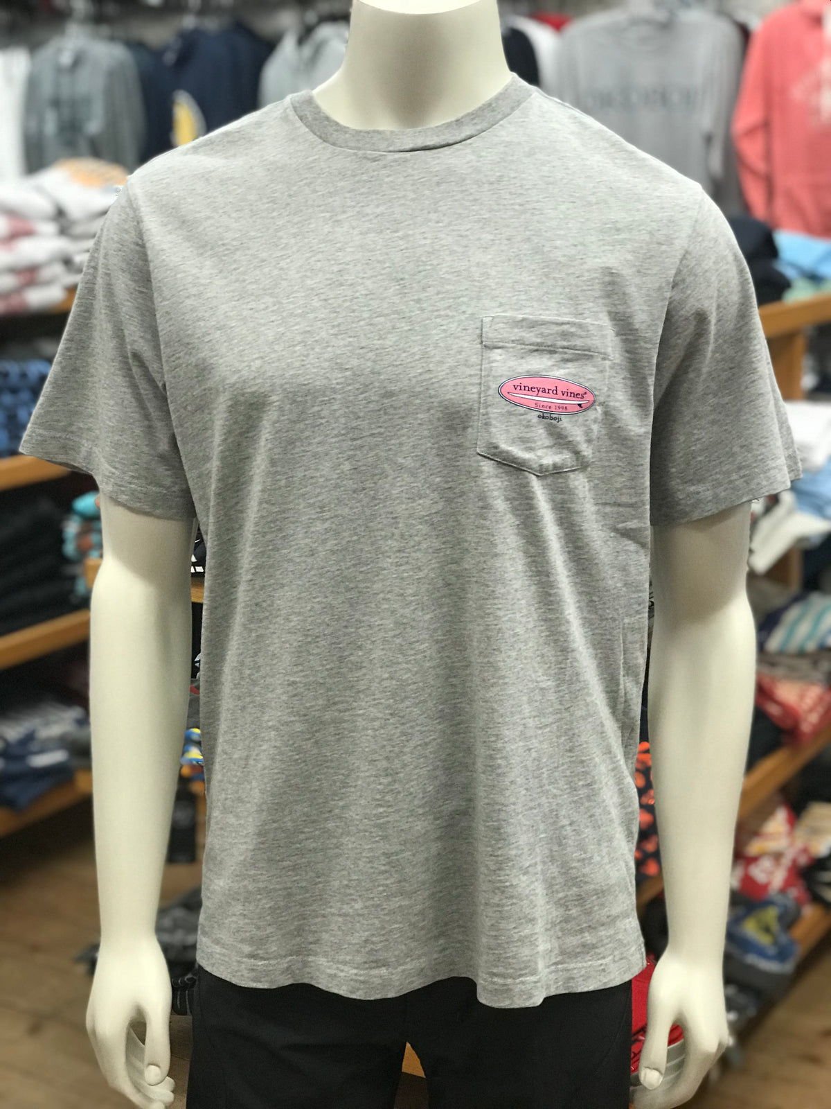Vineyard Vines Okoboji The Board Tee - Gray Heather