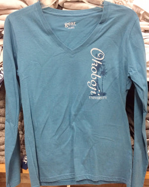 Women's Okoboji University Long Sleeve V-Neck