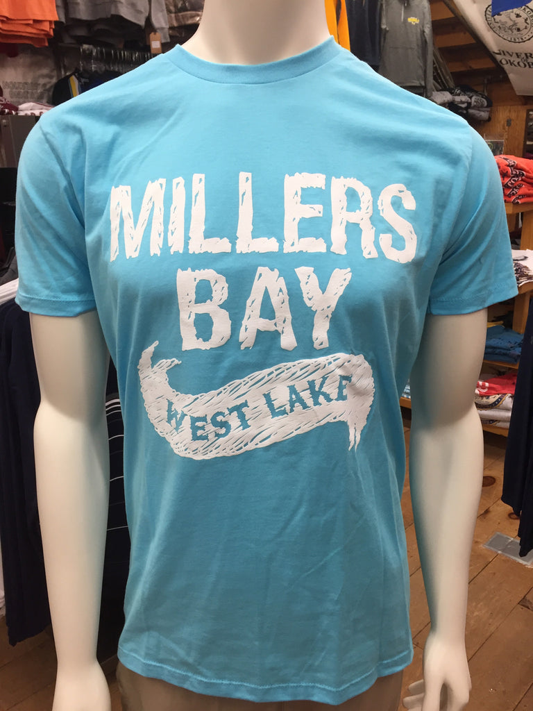 Millers Bay (West Lake) with Crest On Back - Cali Blue