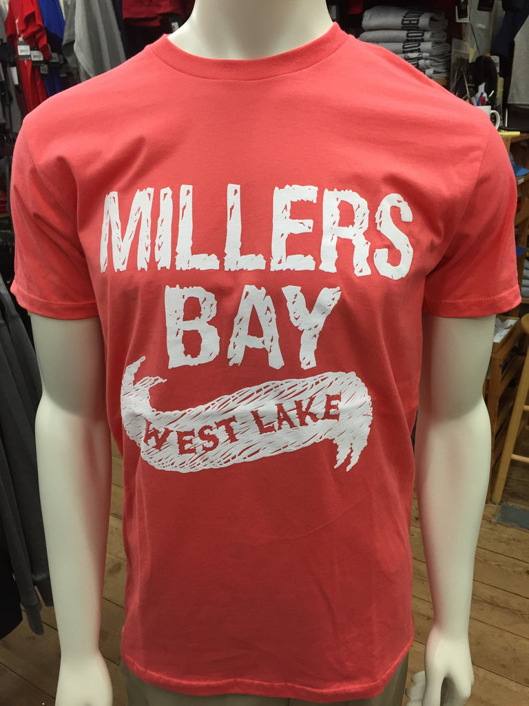Millers Bay (West Lake) with Crest On Back - Watermelon