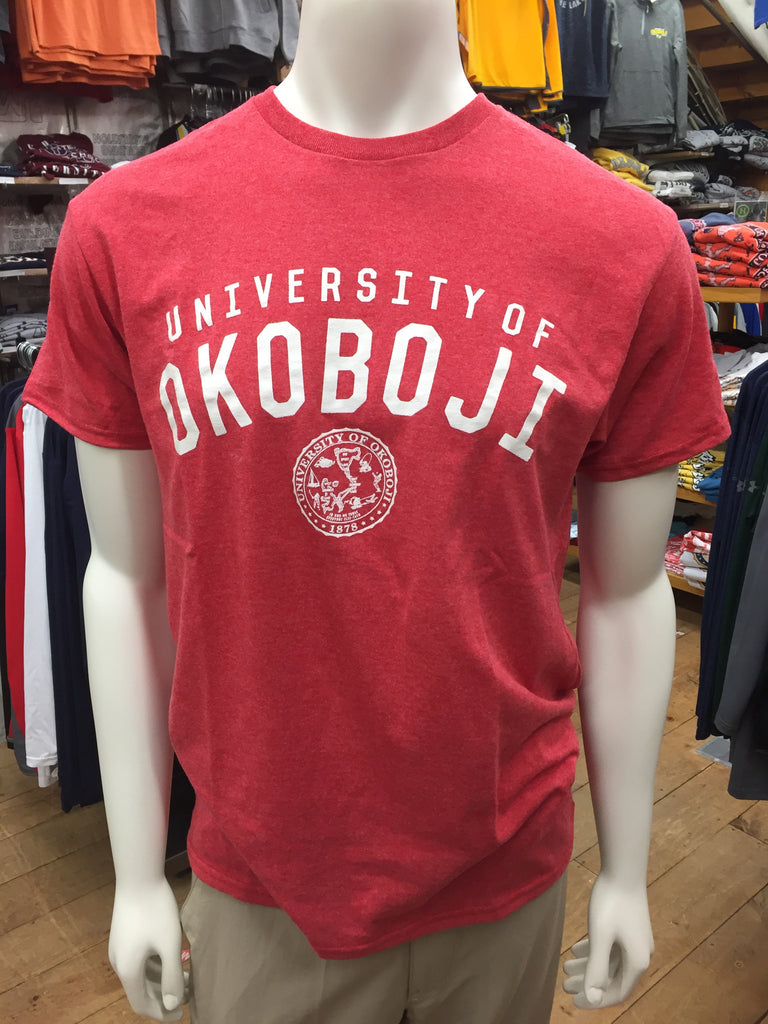 University of Okoboji The 50/50 Tee - Heathered Red