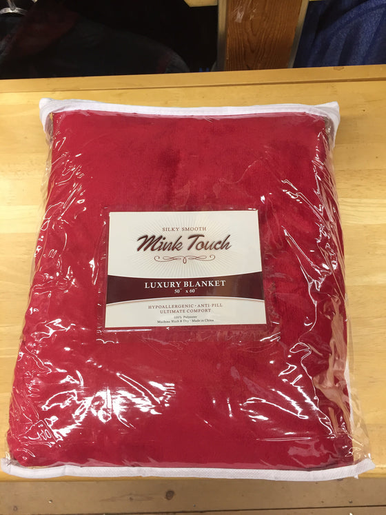 University of Okoboji Mink Touch Blanket - Red
