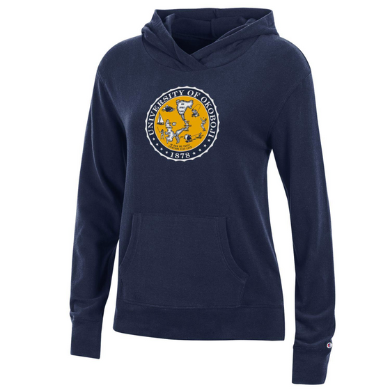 Original Issue U of O Crest Ladies Hoodie by Champion