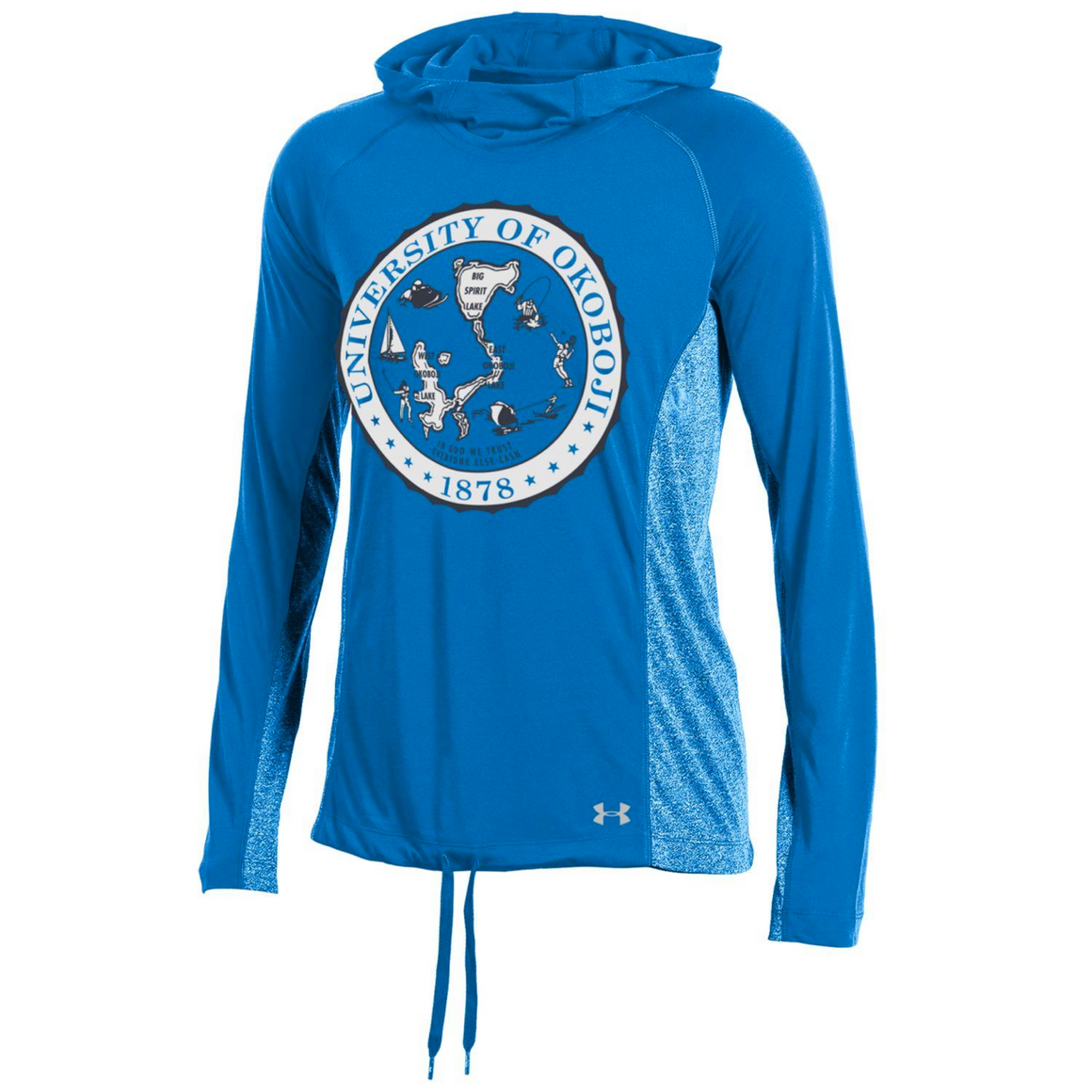 Ladies Under Armour White Crest Hoodie
