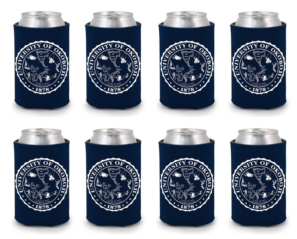 University of Okoboji Koozie 8 Pack - Navy