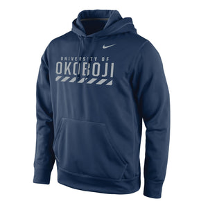NAVY STADIUM CLUB FLEECE HOODY