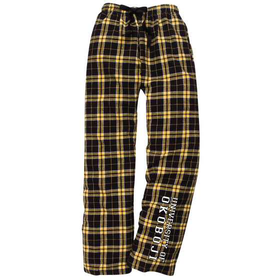 University of Okoboji Flannel Pajama Pant - Black & Gold