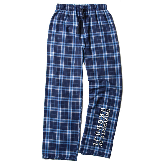 University of Okoboji Flannel Pajama Pant - Navy