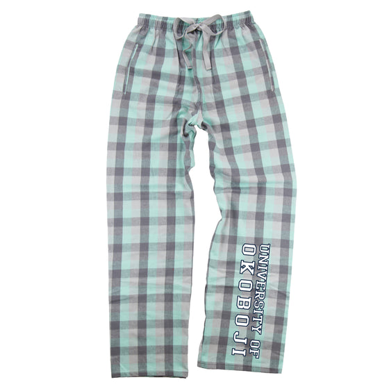 University of Okoboji Flannel Pajama Pant - Mint Grey