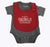 Grey Stripe Bodysuit & Red Bib