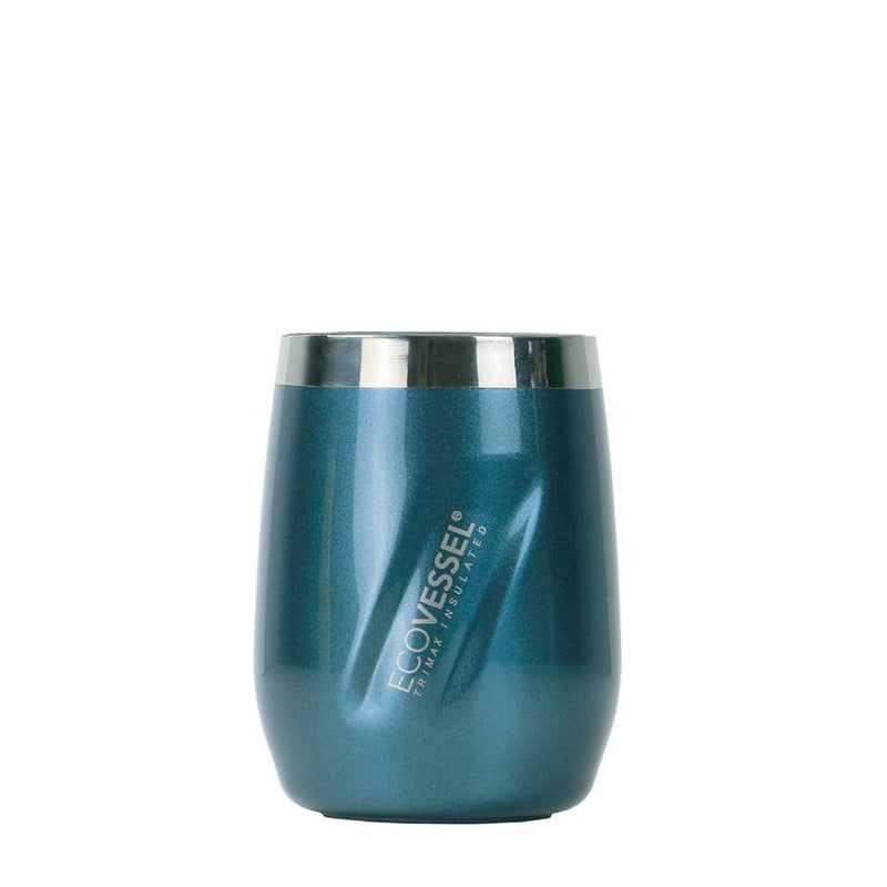PORT INSULATED STAINLESS STEEL WINE TUMBLER AND WHISKEY TUMBLER - 10 OZ - BLUE MOON