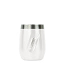 PORT INSULATED STAINLESS STEEL WINE TUMBLER AND WHISKEY TUMBLER - 10 OZ - WHITE PEARL