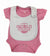 Pretty in Pink Stripe Bodysuit & Pink/White Bib