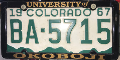U of O License Plate Frame