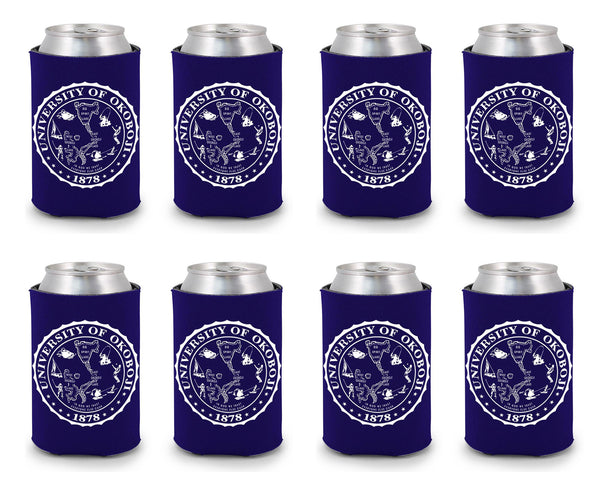 University of Okoboji Koozie 8 Pack - Purple