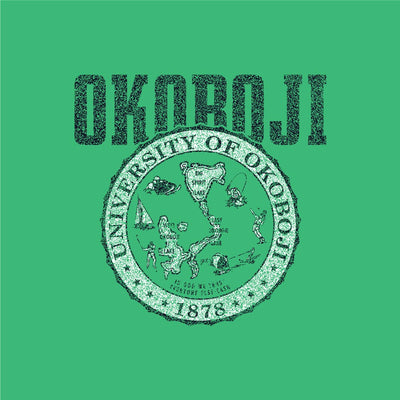 University of Okoboji Crest Rocky Hoodie - Eco True Green