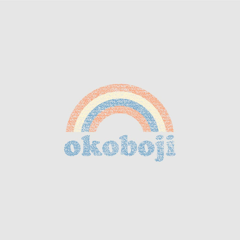Ladies Okoboji Rainbow Pocket Tee