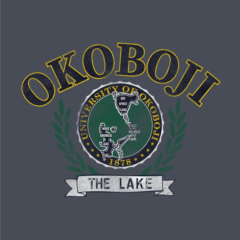 University of Okoboji Victors Crew - Eco Grey (SLIM FIT / UNISEX)