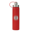 THE BOULDER - UNIVERSITY OF OKOBOJI - INSULATED WATER BOTTLE W/ STRAINER - 20 0Z - JAZZ RED