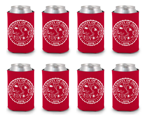 University of Okoboji Koozie 8 Pack - Red