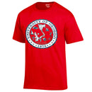 Red University of Okoboji Crest Tee