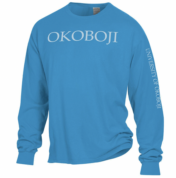 Okoboji Campus Tee - Summer Sky Blue