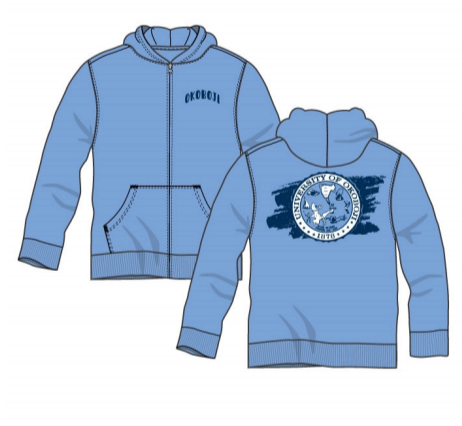 Okoboji Little Full Zip - Light Blue