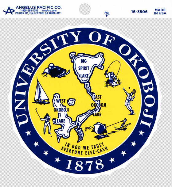 *NEW* University of Okoboji Crest Sticker