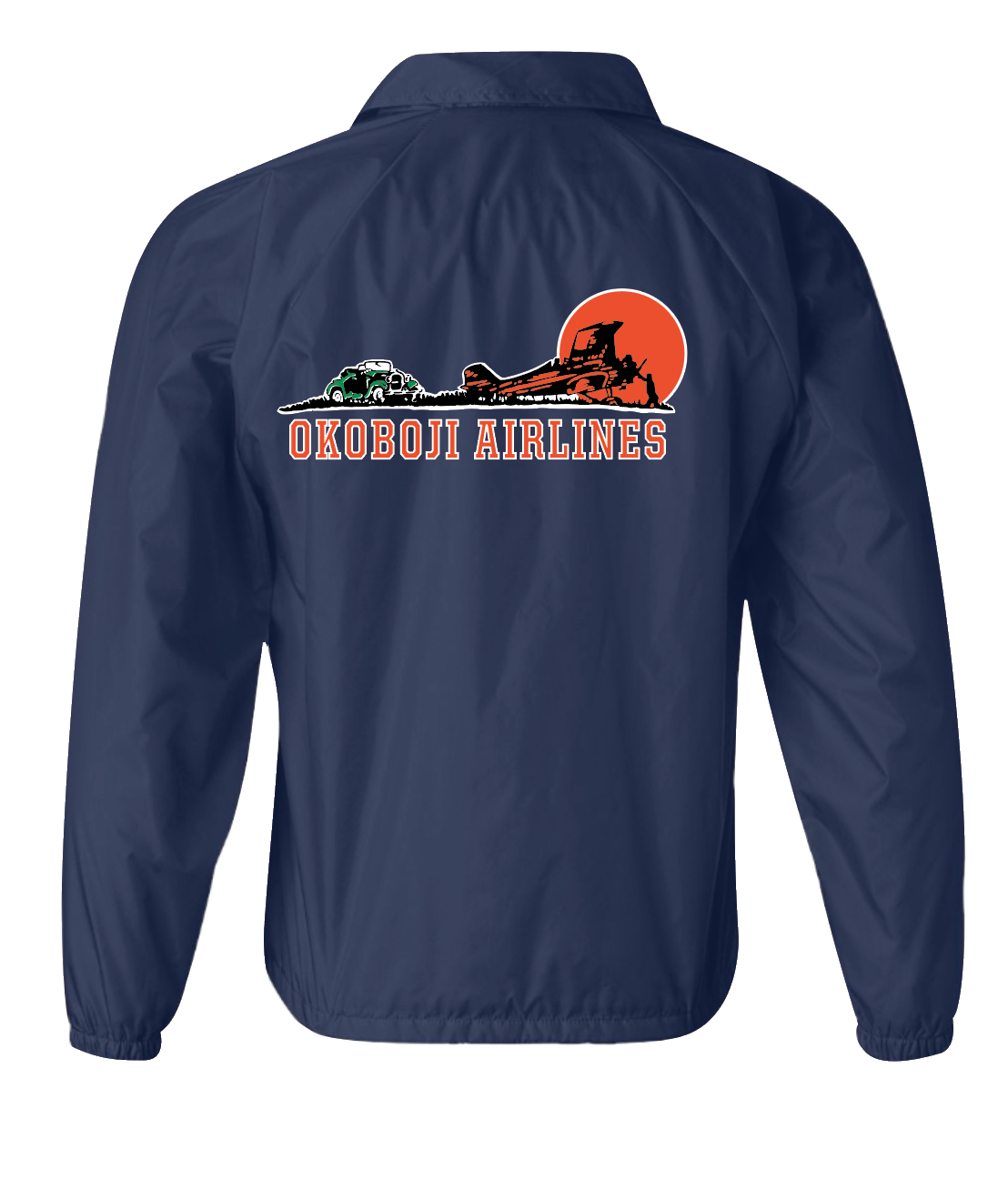 Okoboji Airlines Windbreaker Snap-Button Up Jacket