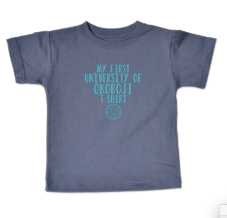 """My First University of Okoboji T-Shirt"" - Gray"