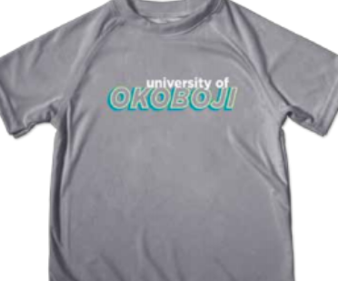 Toddler Impact Tee - Silver w/ Blue