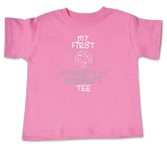 """My First University of Okoboji Tee"" - Pink Crush"