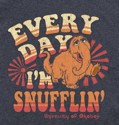 Okoboji Snufflin' Tee - HEATHER BLUE