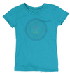 "Girls Bi-Blend ""Boji Girl"" Soft V-Neck Tee - Marine Blue"