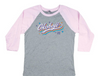 Girls Bi-Blend Retro Baseball Tee - Pink
