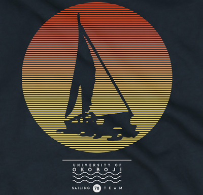 Okoboji Sailing Team Legend Pocket Tee